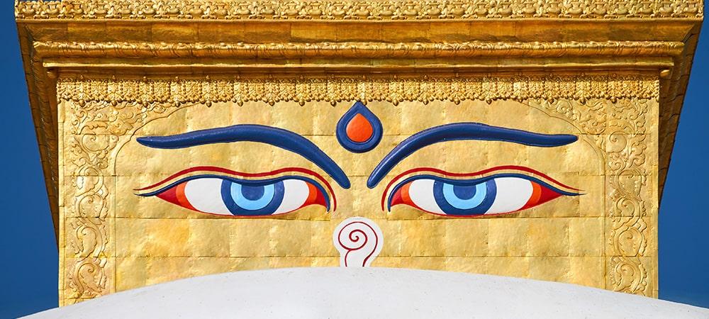 チベット伝統モチーフ・ブッダアイ
